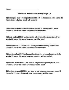 Calculating Earnings Workbook
