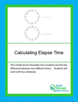 Calculating Elapse Time