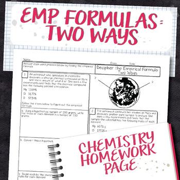 Empirical Formulas Percent Composition Teaching Resources Teachers