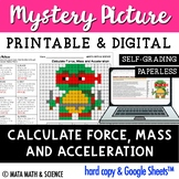 Calculate Force, Mass and Acceleration: Mystery Picture (Turtle)
