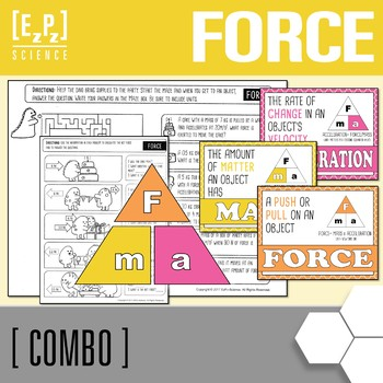 Calculating Force and Force Triangle Poster Combo