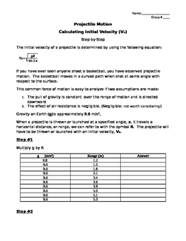Calculating Initial Velocity and Calculating Altitude