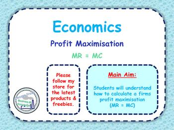 Calculating MR = MC - Profit Maximistaion - Marginal Cost