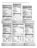 Calculating Macromolecules from Nutrition Fact Labels