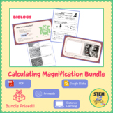 Calculating Microscope Magnification Practice BUNDLE (Perf