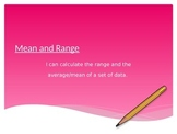 Calculating Mean and Range