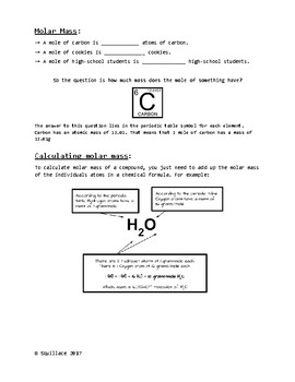 Moles and Molar Mass - Mr Lowe's Science and Chemistry |Molar Mass Science