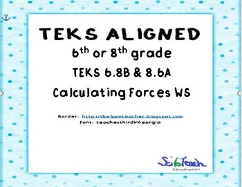 Calculating Net Forces WS
