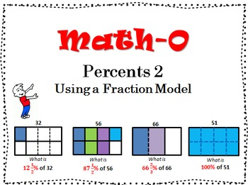 Calculating PERCENTS Using a FRACTION MODEL #2   6.RP   7.RP
