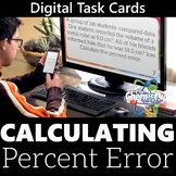 Calculating Percent Error Digital Task Cards (Distance Learning)