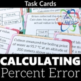 Calculating Percent Error Printable Task Cards