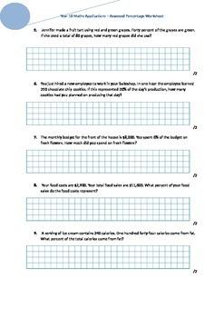 Calculating Percentage Worksheet