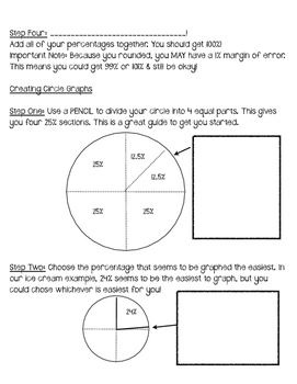 Circle graph notes and practice by smith science and lit tpt circle graph notes and practice ccuart Image collections