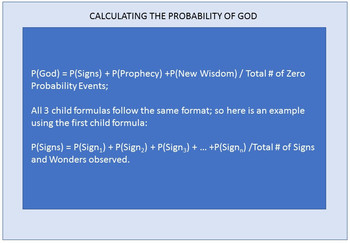 Calculating the Probability of God's Existence™