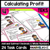 Calculating Profit: An Activity to Practice TEKS 4.4A and 4.10B