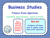 Calculating Profit - Exam Financial Questions - Business Studies & Economics