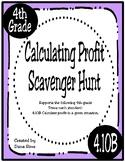 Calculating Profit Scavenger Hunt (4.10B Texas 4th Grade Math)