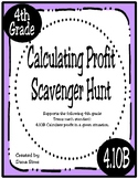 Calculating Profit Scavenger Hunt (4.10B Texas 4th Grade Math) STAAR Practice