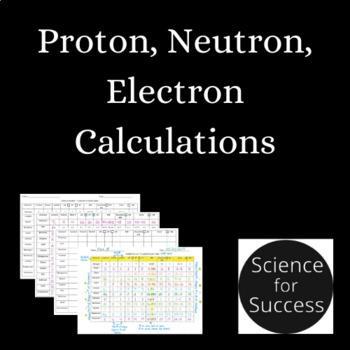 Calculating Protons, Neutrons, Electrons, and More - Particle Practice