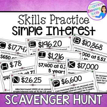 Simple Interest - Scavenger Hunt