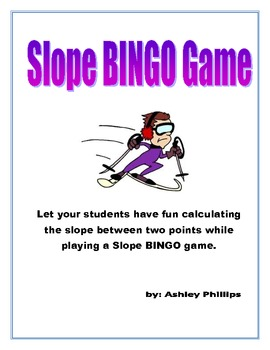 Calculating Slope BINGO Game