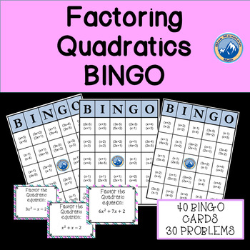 Factoring Quadratics Bingo