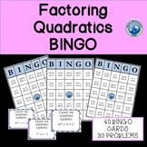Factoring Quadratics Bingo