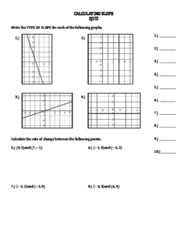 Calculating Slope INB FOLDABLE, Mazes, and Quiz BUNDLE