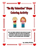 Calculating Slope Valentine's Day Color By Number Activity