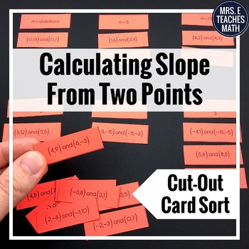 Slope from Two Points Cut-Out Activity