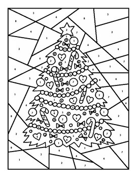 Calculating Speed Color-by-Number Holiday Edition