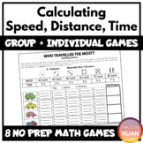 Calculating Speed, Distance, Time Games   Distance Learnin