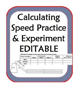 Calculating Speed Experiment & Practice using ramps, marbles- Scientific Method