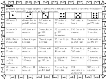Calculating Speed Partner Game