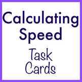 Calculating Speed task cards (paper + digital Boom Cards option)