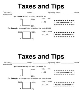 Calculating Tax and Tips