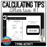 Calculating Tip - After Tax #1 Typing Boom Cards