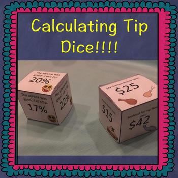 Calculating Tip Dice Game!