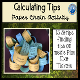 Calculating Tips Paper Chain Activity