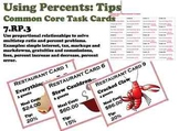 Calculating Tips Ratio Percent Common Core Task Cards 7.RP.3