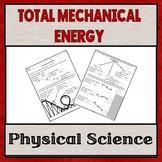 Calculating Total Mechanical Energy Worksheet