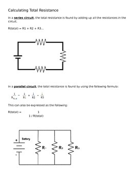 Calculating Total Resistance Parallel Series Circuit Practice