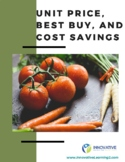 Unit Price, Best Buy, and Cost Savings (worksheet & answer key)
