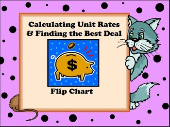 Calculating Unit Rates and Finding the Best Deal Flip Chart
