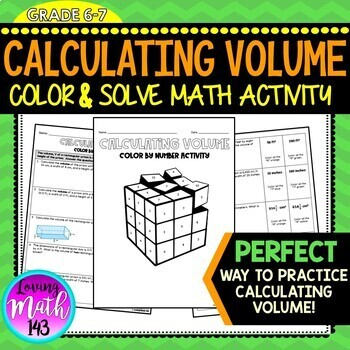 Calculating Volume - Color by Number Math Activity