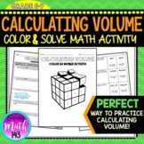 Volume and Missing Dimensions Color by Number Activity