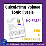 Calculating Volume Logic Puzzle, Critical Thinking