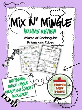 Calculating Volume: Mix n' Mingle *Individual Worksheet Included*