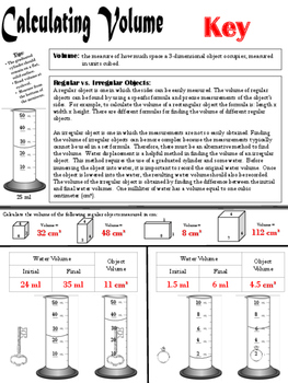Calculating Volume: Regular vs Irregular Objects