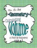 Calculating Volume Tri-Fold-Up and Practice Pages